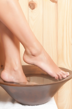 woman legs in spa relaxing Stock Photo