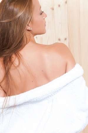 sexual chakra: woman in spa relaxing Stock Photo