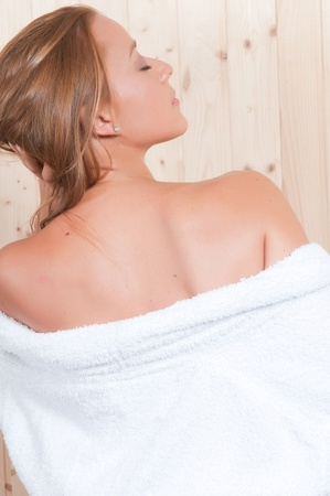 woman in spa relaxing Stock Photo - 21859352