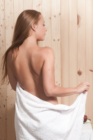 woman having body care in an spa or sauna relaxing Stock Photo - 21884967