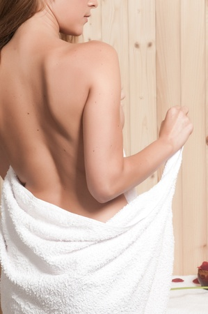 woman having body care in an spa or sauna relaxing Stock Photo - 21884968