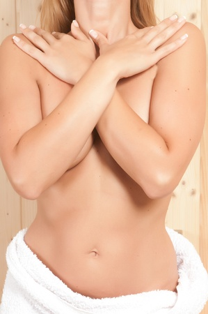 woman having body care in an spa or sauna relaxing Stock Photo - 21884975