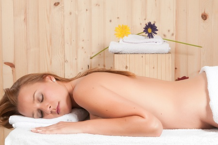 Save to a Lightbox   9660;    Find Similar Images    Share   9660; beautiful blonde woman relaxing in spa Stock Photo - 21884982