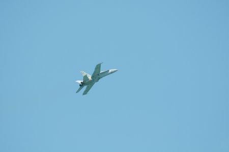 f18: f18 plane in blue sky