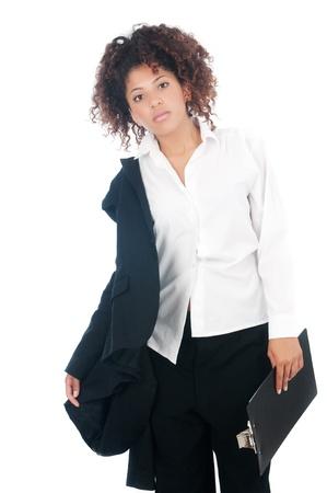 after to work: Mujer de negocios despu�s del trabajo