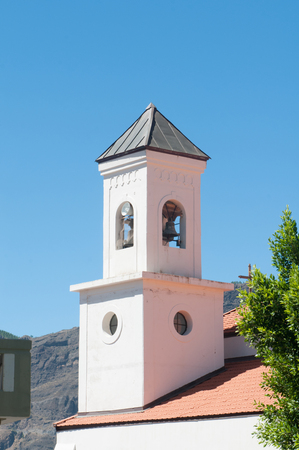 bell tower in a church photo