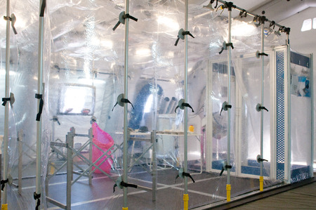 Portable hospital for nuclear or virus alarm Stock Photo - 22234263