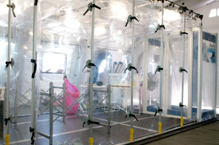 Portable hospital for nuclear or virus alarm Stock Photo - 22234264