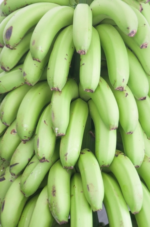 bunched: Bunch of ripe bananas background