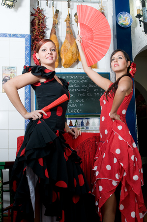 bailarines espa�oles en abril fiesta flamenca photo