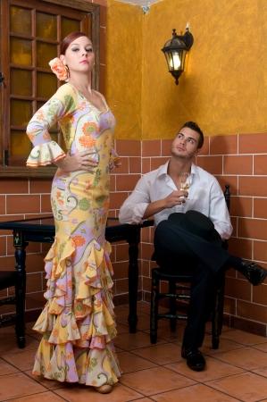 spanish dancers in april flamenco party photo