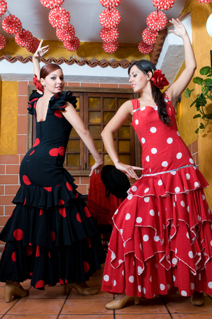 spanish dancers in april flamenco party photo