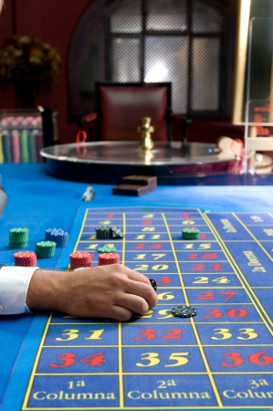 casino games with gambler hands photo