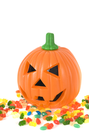 wrathful: Halloween pumpkin Stock Photo