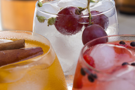 Three fruit cocktails photo