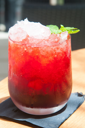 liquefied: Red fruit flavored frozen cocktail