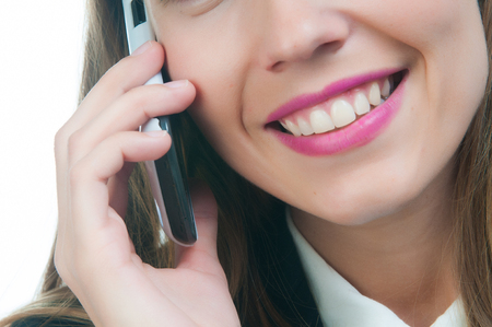 business woman talking by phone Stock Photo