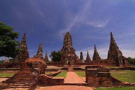 archaeological: Wat ChaiWatthanaram, Ayutthaya Historical Park , Thailand Stock Photo