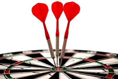 Target hitten by three arrows, Financel business background image, Marketing solution image, Marketing background image
