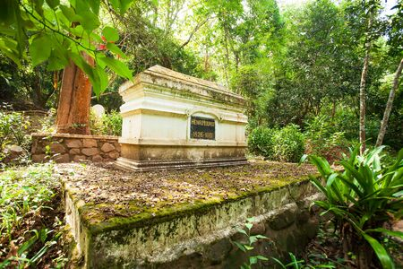 "Henry Mouhot's grave near the Nam Khan River in Luang Prabang, Laos. Henry Mouhot's ""discovery"" brought Angkor Wat to the attention of the West. The place is open to the publ 写真素材"