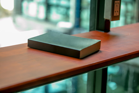 black book on the wood