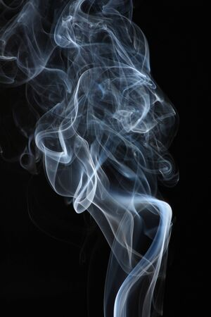 abstract white smoke on black  photo