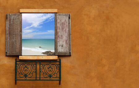 window open: Classic window sky