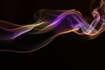 swirly design: Colorful of Smoke Stock Photo