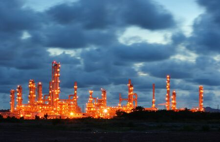 Glow light of petrochemical industry photo