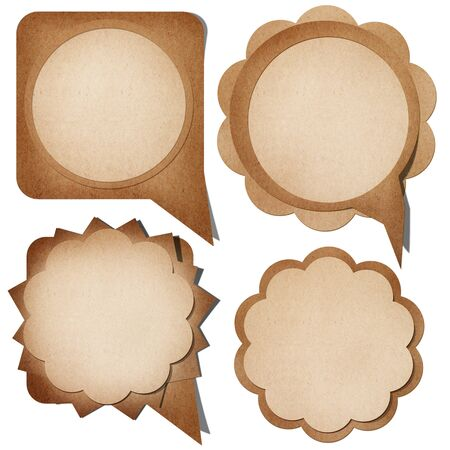 Grunge paper talk icon isolate on white photo