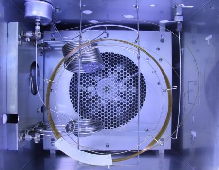 Inside Gas Chromatography Analyzer Stock Photo - 15964171