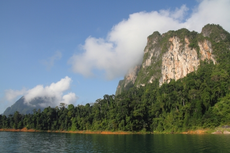 undisturbed: Khao sok mountain and lake in thailand