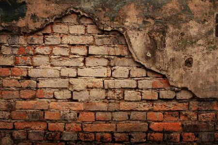 Weathered stained old brick wall texture Stock Photo - 15964973