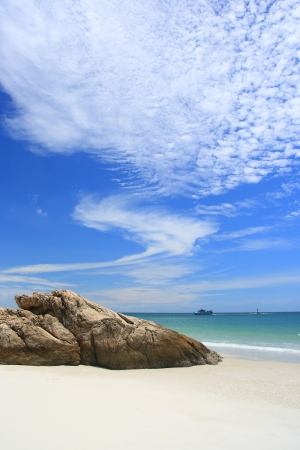 Beautiful sky on the beach(Samet island of Thailand)