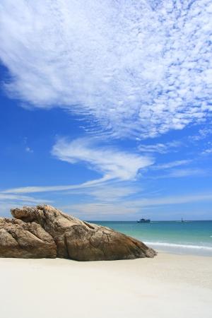 Beautiful sky on the beach(Samet island of Thailand)