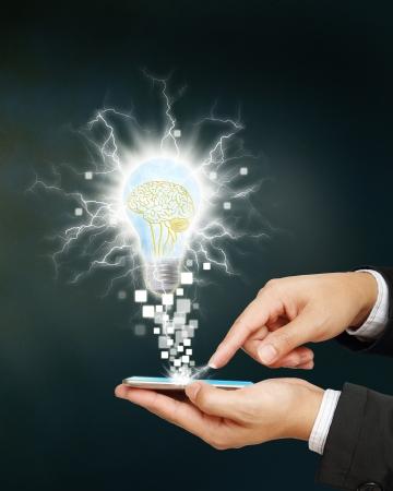 innovacion: idea abstracta concepto chispa gran idea