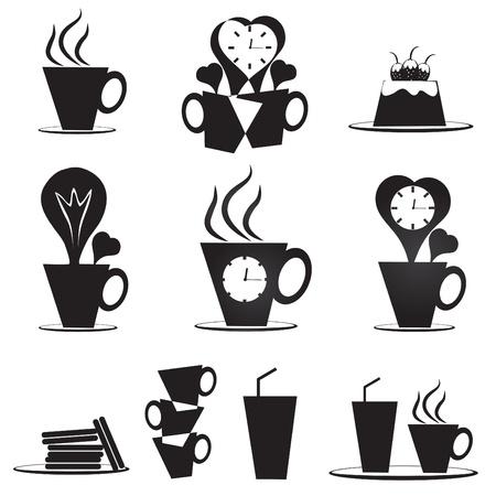 Kreative Kaffeetasse Symbole