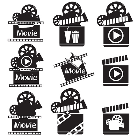 Movie icons illustration Vector
