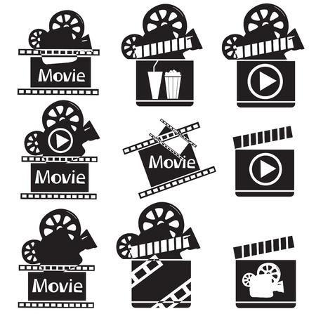 Movie pictogrammen illustratie