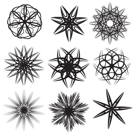 Set of abstract star icons illustration Stock Vector - 21961715