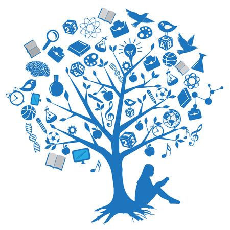 ceruzák: Fa oktatási tervez szimbólumokkal