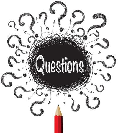 punto di domanda: Domanda segna disegni illustrazione Vettoriali