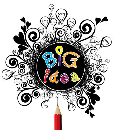 big idea: Big idea alphabet colorful design illustration vector Illustration