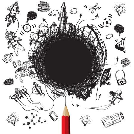fondo de graduacion: Educación diseña concepto con el blanco para createvector texto Vectores