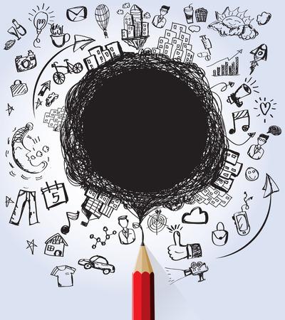 astronaut: Negocios y Educaci�n dise�os concepto con el blanco para createvector texto