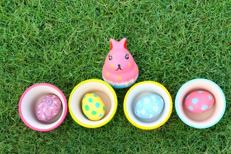 cup four: Eggs and Rabbit Ceramic on Easter