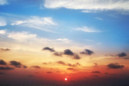 Beautiful sunset background on the sea