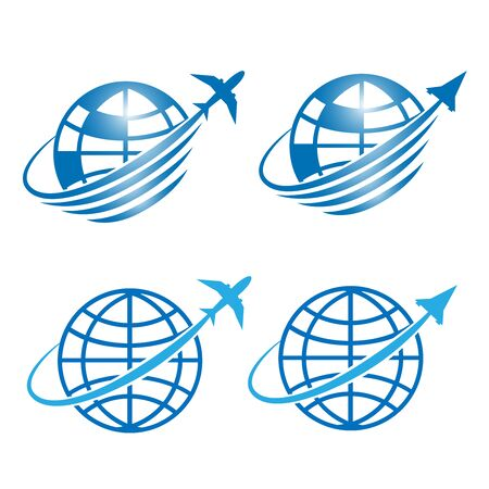 Space flight symbol and Travel icons design illustration vector