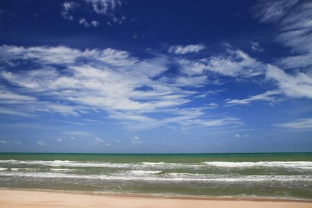 Landscape of sea outdoor background. Summer holiday on the beach concept. Imagens