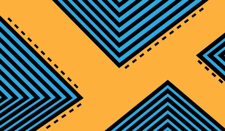 Abstract black blue and orange color zig zag wave pattern background vector